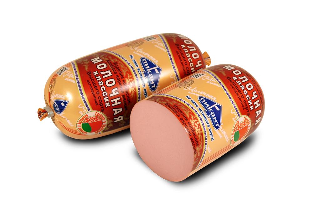 Колбаса вареная «Молочная классик» фас.450 г