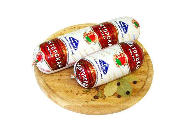 Колбаса вареная «Докторская классик» в искусств. оболочке