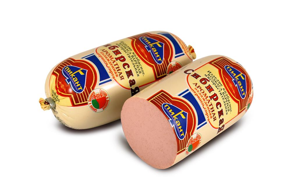 Колбаса вареная «Сибирская ароматная», фас. 450 г