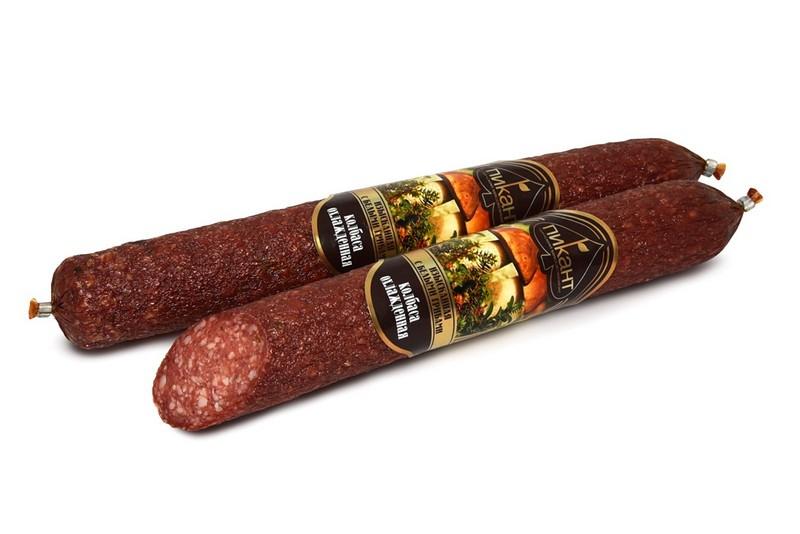 Колбаса сырокопченая «Изысканная с белыми грибами»
