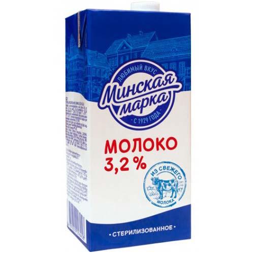 Молоко стерилизованное 3,2% 1 литр