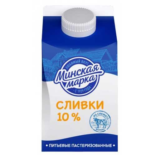Сливки «Минская марка» 10% 500 г