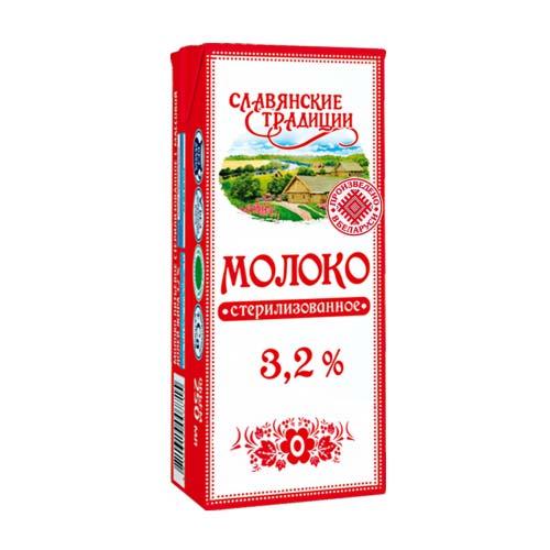 Молоко стерилизованное «Славянские традиции» 3,2% 0,25 л