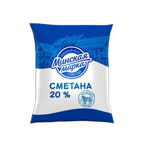 Сметана «Минская марка» 20% 400 г