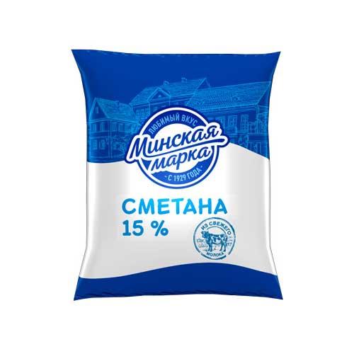 Сметана «Минская марка» 15% 400 г