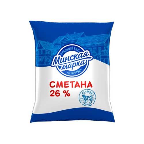 Сметана «Минская марка» 26% 400 г