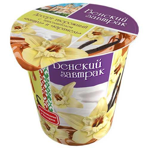 Десерт творожный «Венский завтрак» 4% 150 г с наполнителем «ваниль-карамель»