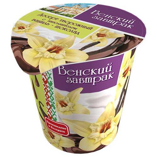Десерт творожный «Венский завтрак» 4% 150 г с наполнителем «ваниль-шоколад»