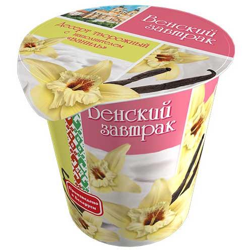 Десерт творожный «Венский завтрак» 5% 150 г с ванильным наполнителем