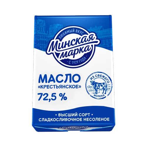 Масло «Крестьянское» сладкосливочное несоленое 72,5% 180 г