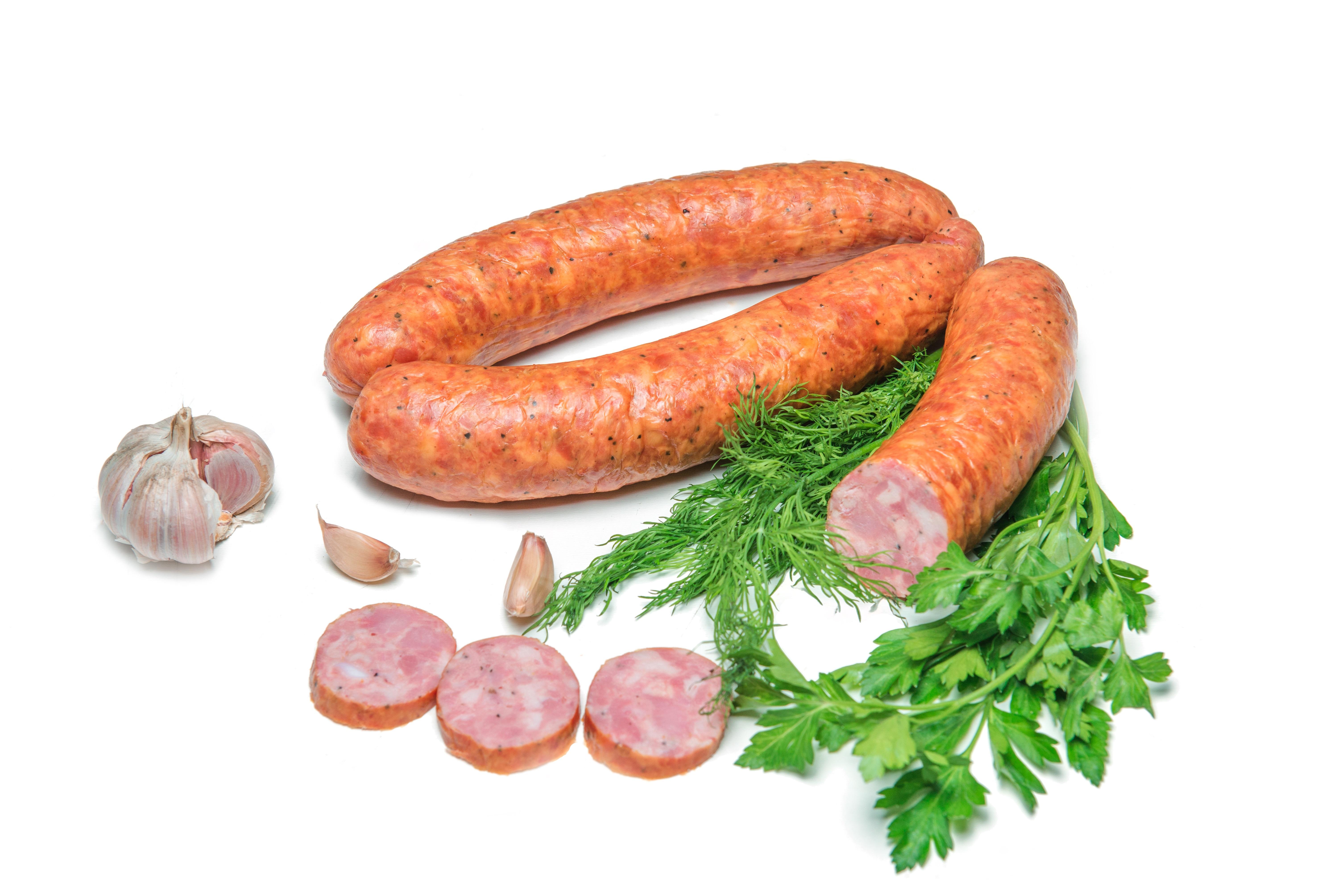 Колбасы варено-полукопченые