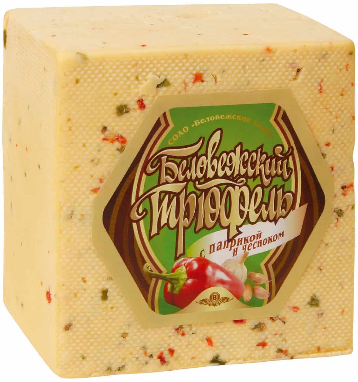 Сыр Беловежский трюфель с паприкой и чесноком 40%