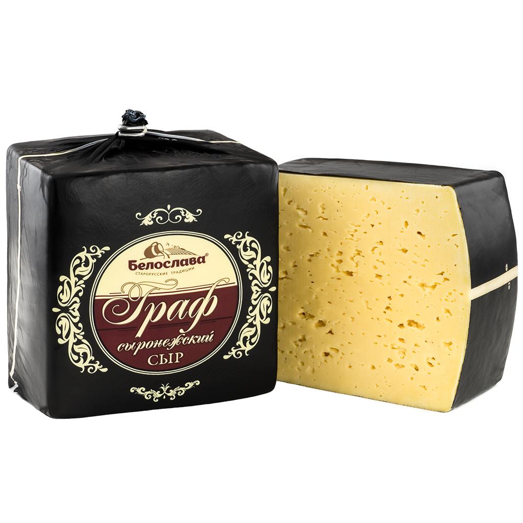 Сыр «СЫРОНЕЖСКИЙ ГРАФ» С АРОМАТОМ ТОПЛЕНОГО МОЛОКА брус малый