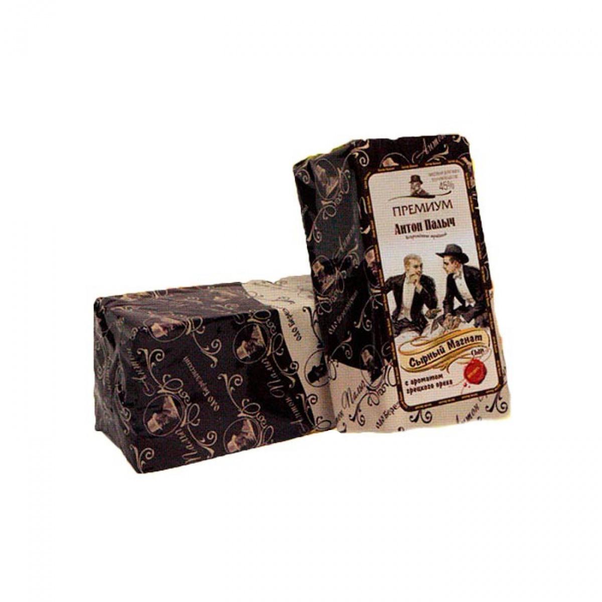 Сыр Сырный магнат 45% «Антон Палыч» (вкус ореха) бруc