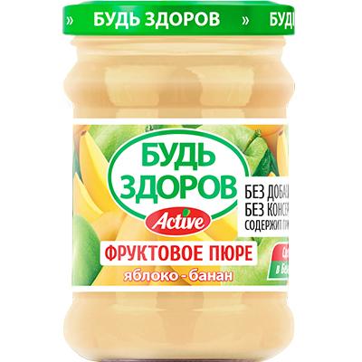 Пюре «Будь здоров» яблоко-банан