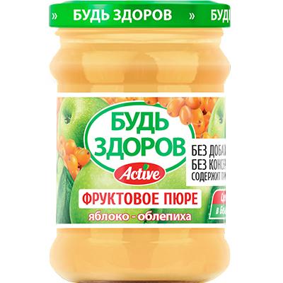 Пюре «Будь здоров» яблоко-облепиха