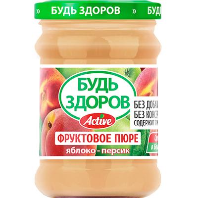 Пюре «Будь здоров» яблоко-персик