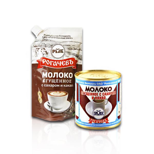 Молоко сгущенное с сахаром и какао