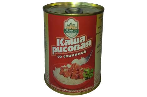 Каша рисовая со свининой Калинковичи