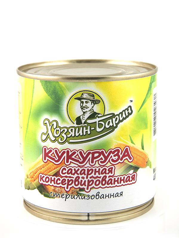 Кукуруза сахарная консервированная стерилизованная Хозяин-Барин